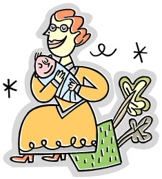 mutter und kind, clipart