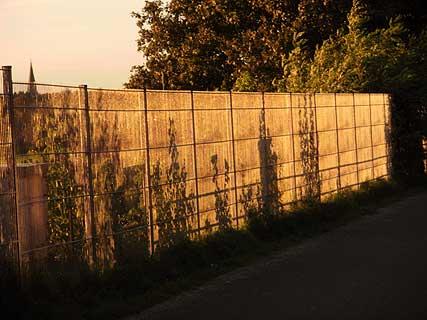 vergoldeter zaun,tempelhofer feld,berlin