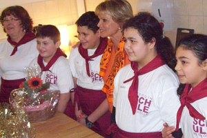 Einweihung Frühstücksraum Hermann-Boddin-Schule Neukölln
