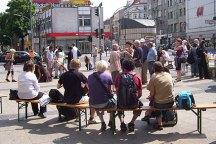 meinstein-mosaiktag, platz der stadt hof, neukölln