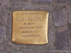 klara raucher, 1. stolperstein in neukölln, hermannstraße 46