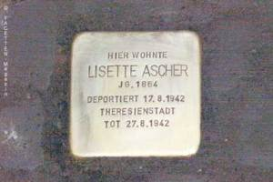 stolperstein-verlegung, lisette ascher, jonasstraße 66, neukölln, gunter demnig
