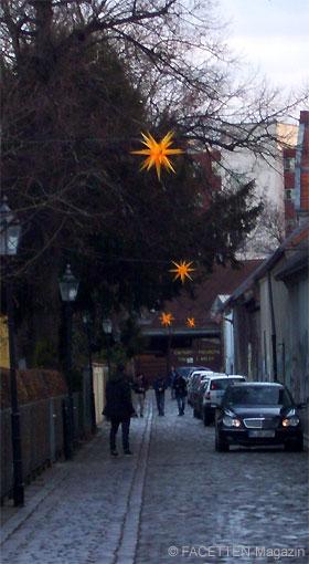 kirchgasse neukölln, herrnhuter sterne, böhmisch-rixdorf