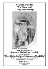 silvana czech,ingrid biermann-volke,gemeinschaftshaus morus 14, neukölln,100 jahre neukölln