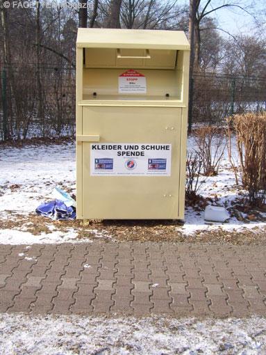 Kleiderspende container berlin tempelhof