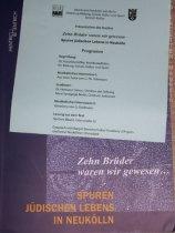 """buchpräsentation """"zehn brüder waren wir gewesen ... spuren jüdischen lebens in neukölln"""", verlag hentrich & hentrich"""
