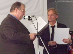 40jähriges betriebsjubiläum von jürgen mentzel (r.) bei bally wulff, heinz buschkowsky