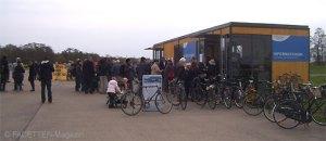 berlin, eröffnung info-pavillon tempelhofer freiheit,