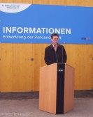 berlin, eröffnung info-pavillon tempelhofer freiheit, staatssekretär christian gaebler