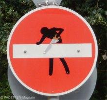 stickerart clet abraham, neukölln, streetart