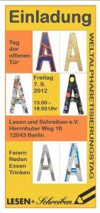 weltalphabetisierungstag, tag der offenen tür, lesen und schreiben e.v. berlin-neukölln