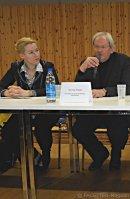 """podium pressegespräch """"wiedereinsetzung des wachschutzes an neuköllner schulen"""", albert-schweitzer-gymnasium, dr. franziska giffey, georg krapp"""
