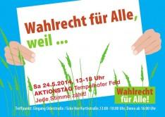 Aktionstag Wahlrecht für Alle_Tempelhofer Feld Berlin