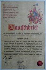 gautschbrief martin gobel