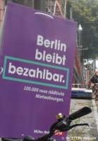 berlin bleibt bezahlbar_spd-wahlplakat neukoelln